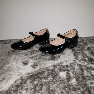 New Harper Canyon Glitter Heal Patent Mary Janes